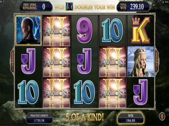 Avalon II Online Slot Bonus Win