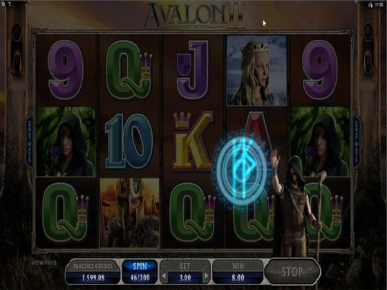 Avalon II Online Slot Merlin Feature