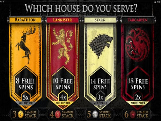 Game of Thrones Online Slot Bonus Choice