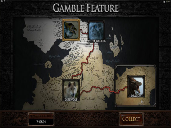 Game of Thrones Online Slot Gamble Feature