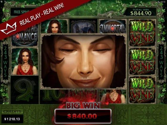 Immortal Romance Online Slot Sarah Mega Win