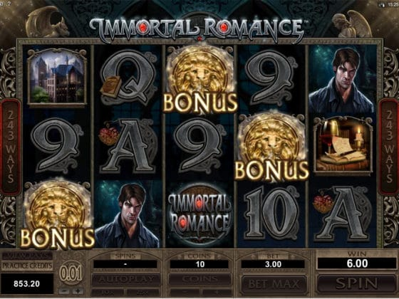 Immortal Romance Online Slot Bonus Hit