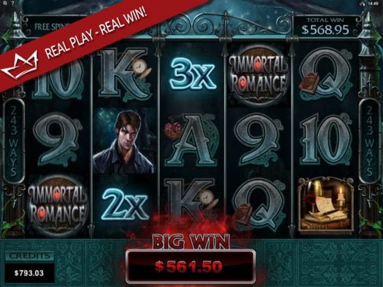 Immortal Romance Online Slot Troy Mega Big Win