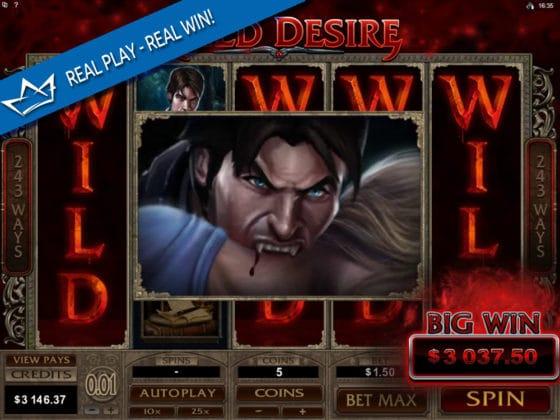 Immortal Romance Online Slot WILD DESIRE Mega Win