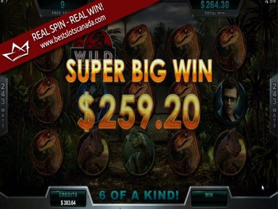 Jurassic Park Online Slot Super Big Win