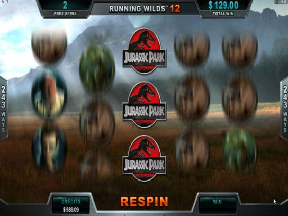 Jurassic Park Online Slot Triceratops Bonus