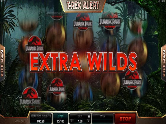 Jurassic Park Online Slot Extra Wilds