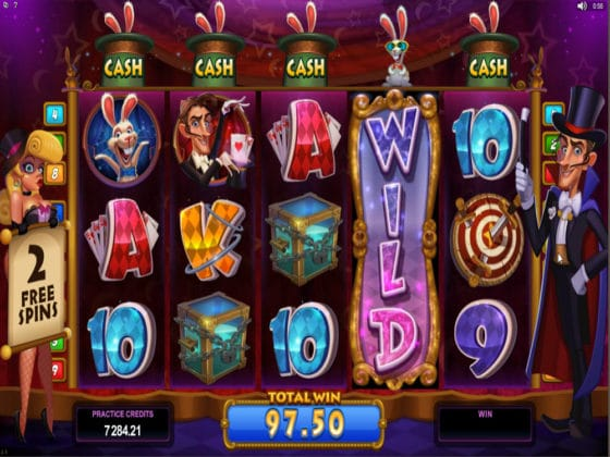 Rabbit in the Hat Online Slot Bonus WILD reel