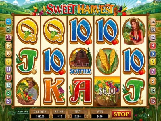 Sweet Harvest Online Slot Harvest Bonus