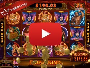The Twisted Circus Bonus Mega Big Win