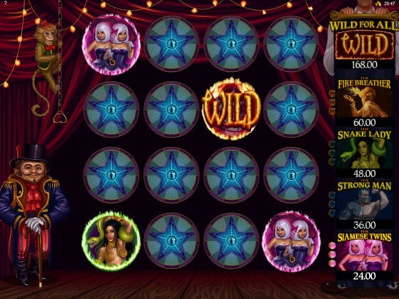 The Twisted Circus Online Slot Circus Match Bonus