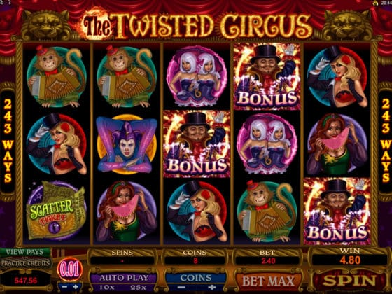 The Twisted Circus Online Slot Bonus Hit