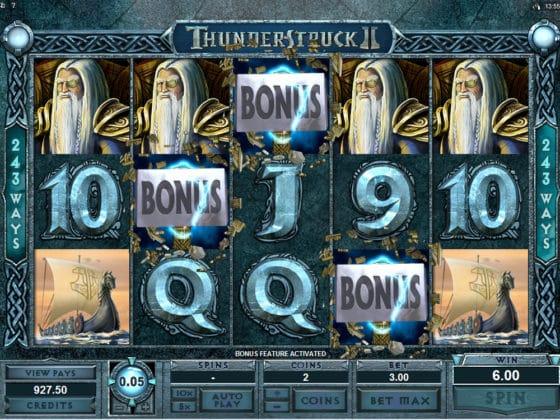 Thunderstruck II Online Slot Bonus Hit