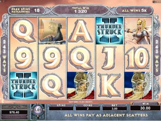 Thunderstruck II Online Slot Valkyrie Bonus
